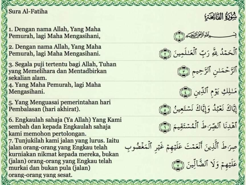 Surah Al-Fatihah Sebagai Hadiah YangTerbaik